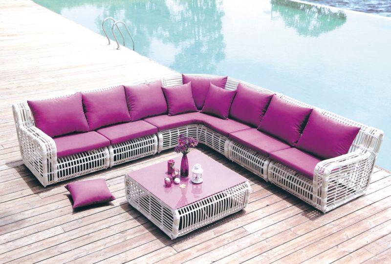 Abrir el tejido sof moderno mobiliario de jard n tg 004 for Mobiliario de jardin moderno