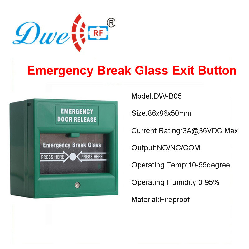 China Emergency Exit Button Fireproof Break Glass Release Button
