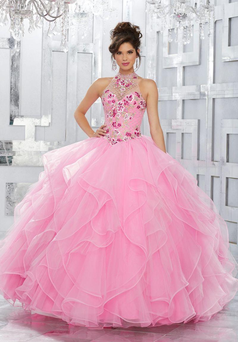 Los vestidos de bola coralinos rosados azules rebordearon las ...