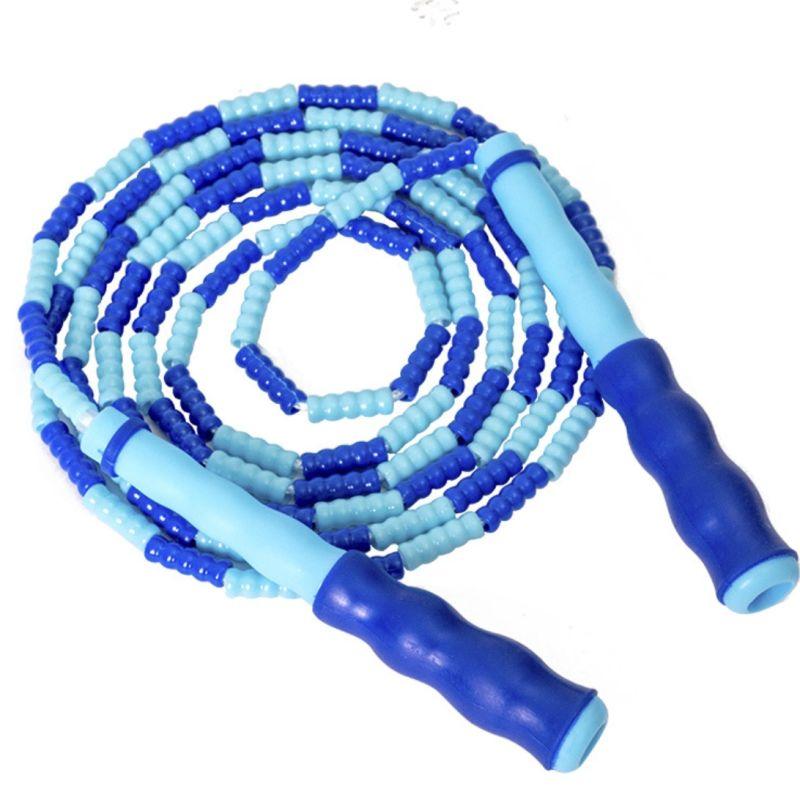 Vitesse Corde À Sauter Pour Enfants Adulte Bleu Réglable segmenté Perles Jump Fitness