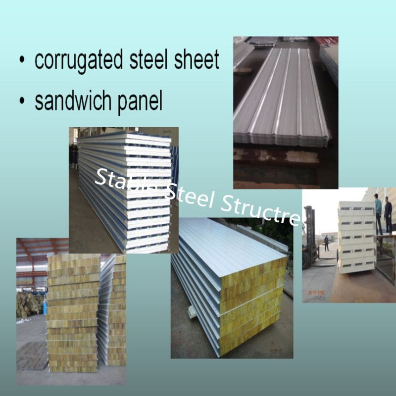 Estructura de acero de cinco pisos de construcción con pared Civil ...