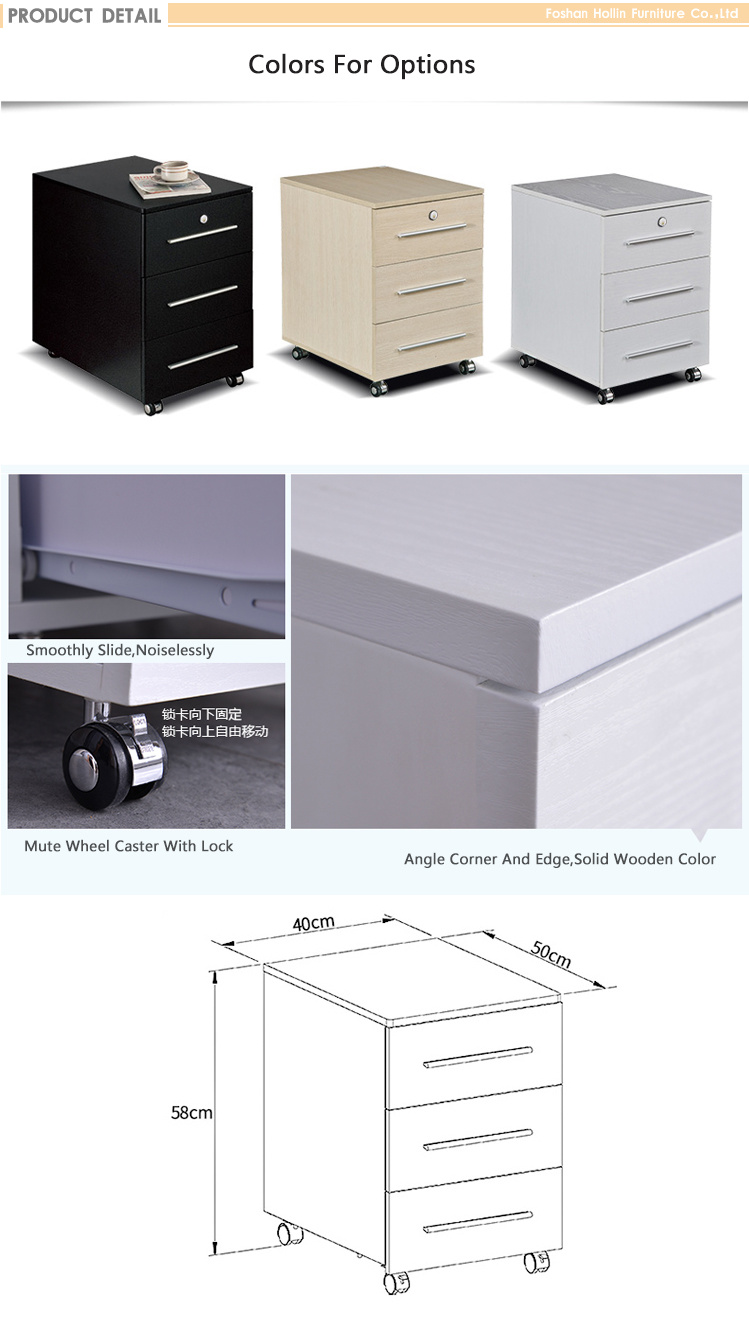 Small Filing Cabinet 3 Drawer File With Lock Vertical Standing Short For Home