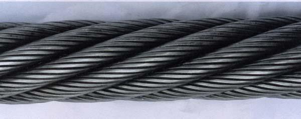 China Ungalvanized and Galvanized Steel Wire Rope (6*37+iwrc ...