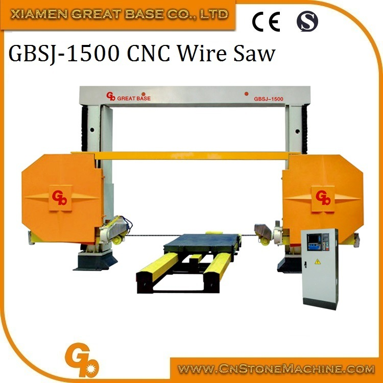 China Diamond Wire Saw CNC Granite Marble Stone Cutting Machine ...