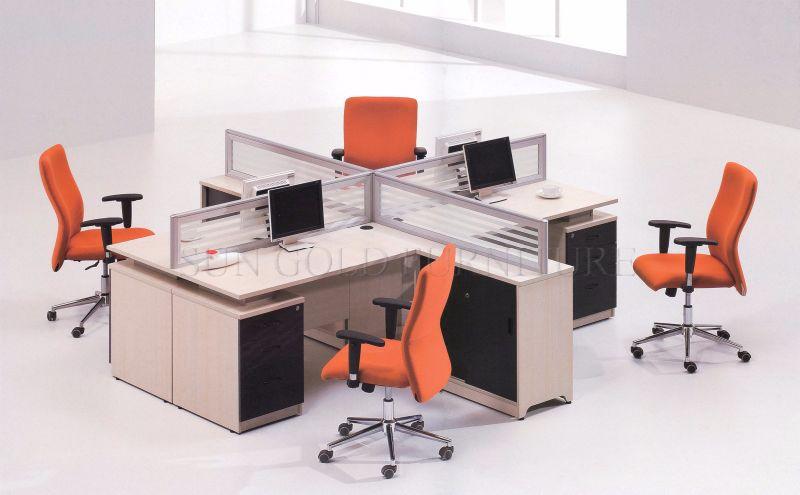 nouvelle partition modulaire 4 personne banc de travail poste de travail de bureau sz wst842. Black Bedroom Furniture Sets. Home Design Ideas