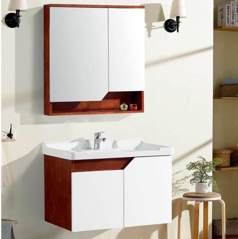 Bref sanitaire moderne salle de bains en bois massif de la vanité du  Cabinet de 8032