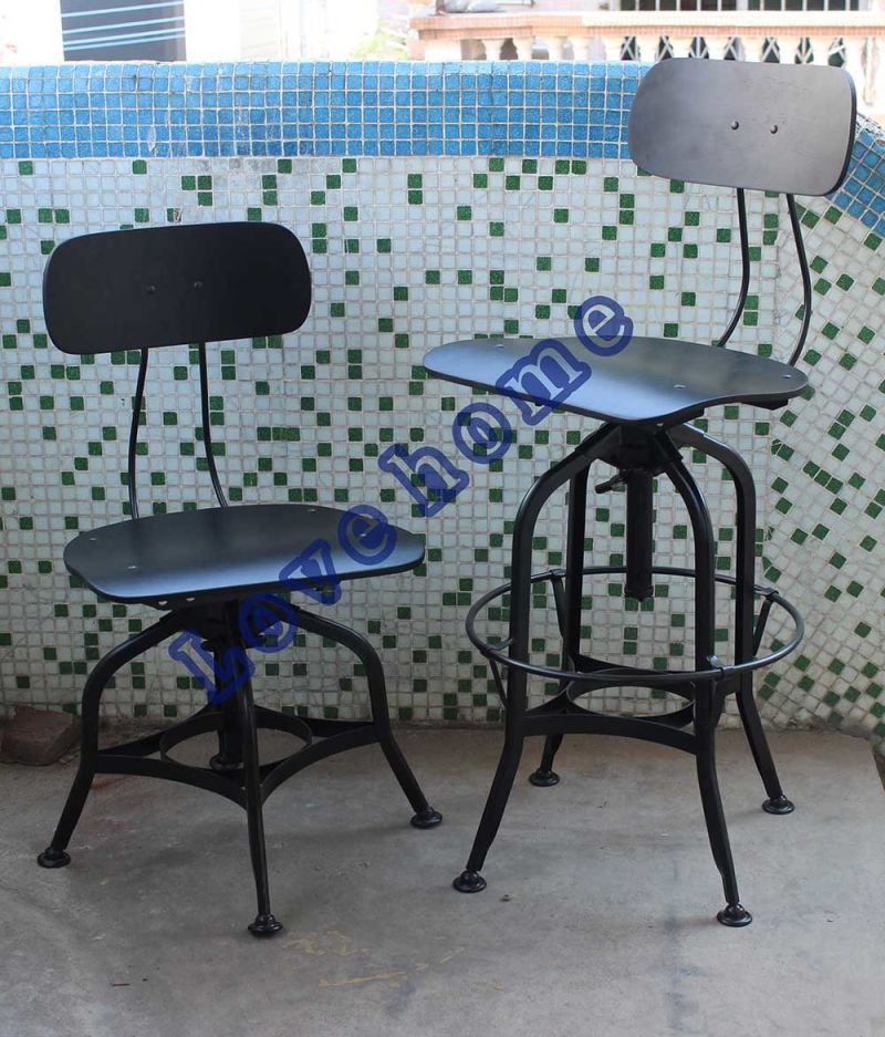 China Industrial Metal Dining Steel Toledo Bar Chairs