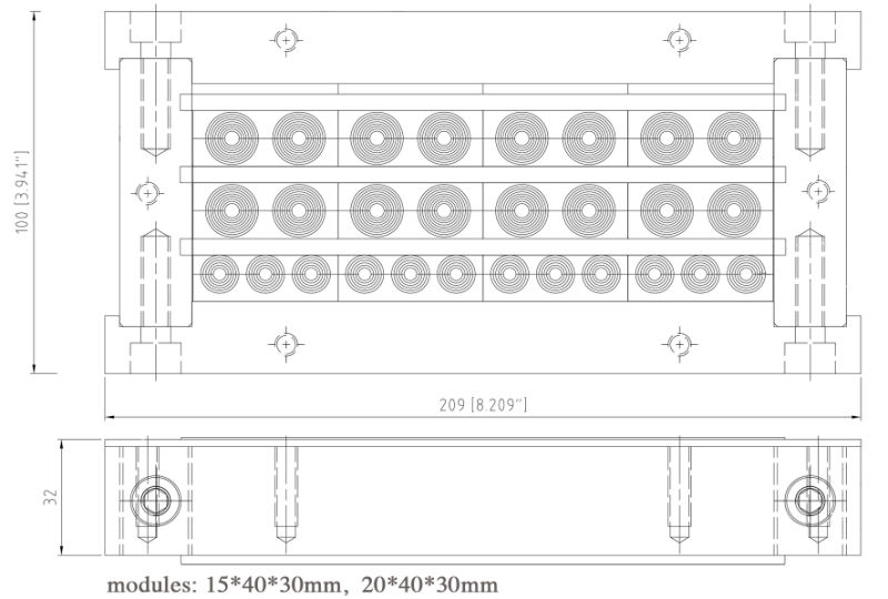 Cable Wall Entry Plate, Feed Thru Plate, Cable Entry Plate, Multi-Diameter Adjustable Cable Entry Plate