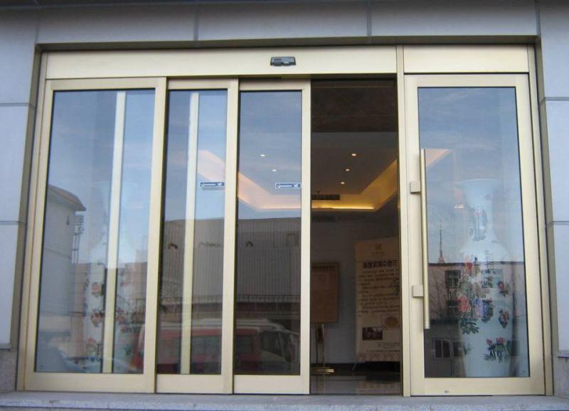 Automatic Frameless Glass Sliding Door Front Door