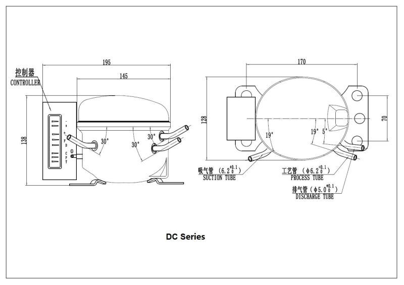 una buena calidad r600a compresor dc 12v  24v compresor