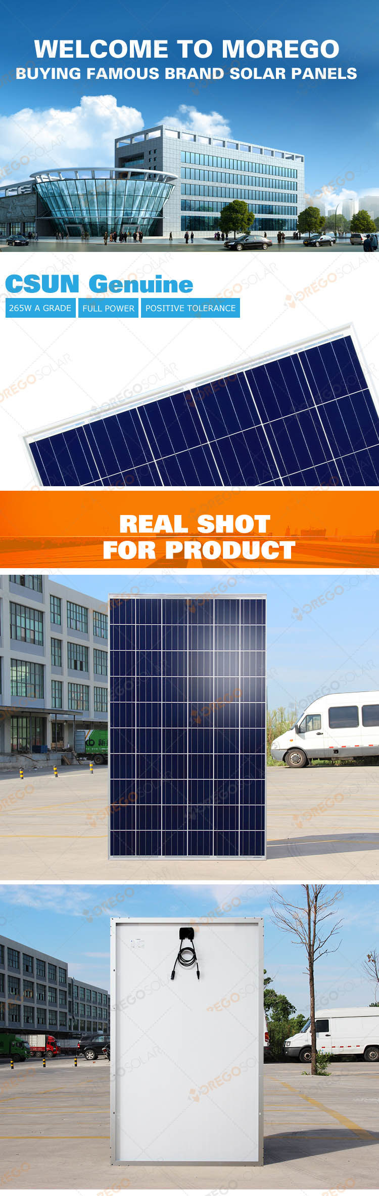 China Csun Poly Solar Panel (cell) 265W-270W Solar Module - China