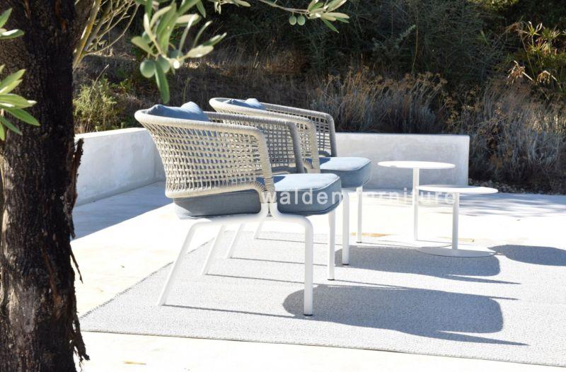 Cuerda de aluminio tejido sofá jardín Muebles Juego de salón muebles ...