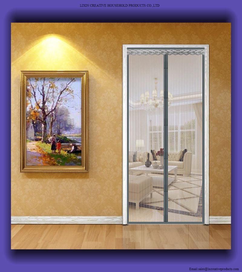 2017 Magnetic String Door Curtains Mesh Screen Doors Screen Curtain for Door & China 2017 Magnetic String Door Curtains Mesh Screen Doors Screen ...