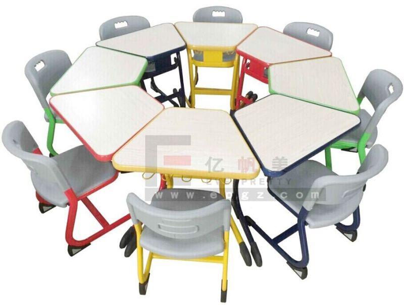 Muebles de jardín de infantes niños silla mesa bastidor metálico ...