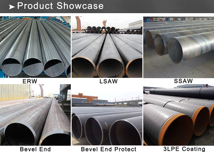 API 5L Grb Psl1 Lasw ERW Spiral Welded Steel Pipe