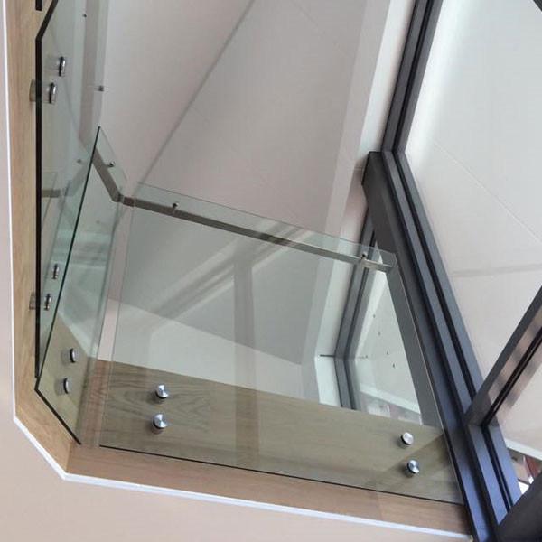 Indoor Wood Railing Designs / Stainless Steel Stair Railing