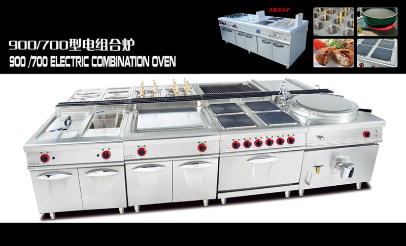 Industrial Gas Stove Range With 4 Burners Guangdong Style Cooking