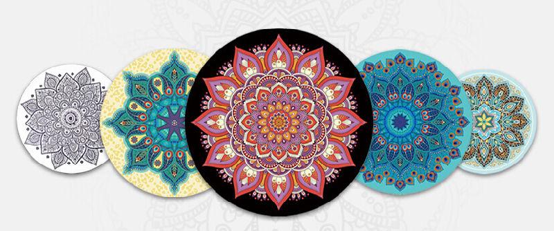 Couvre Tapis Rond De Yoga De Mandala Pour Le Couvre Tapis De