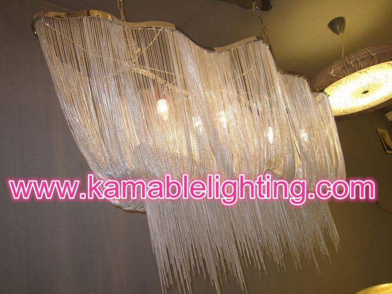 Modern Silver Chain Lighting Chandelier Pendant Light (KA107)