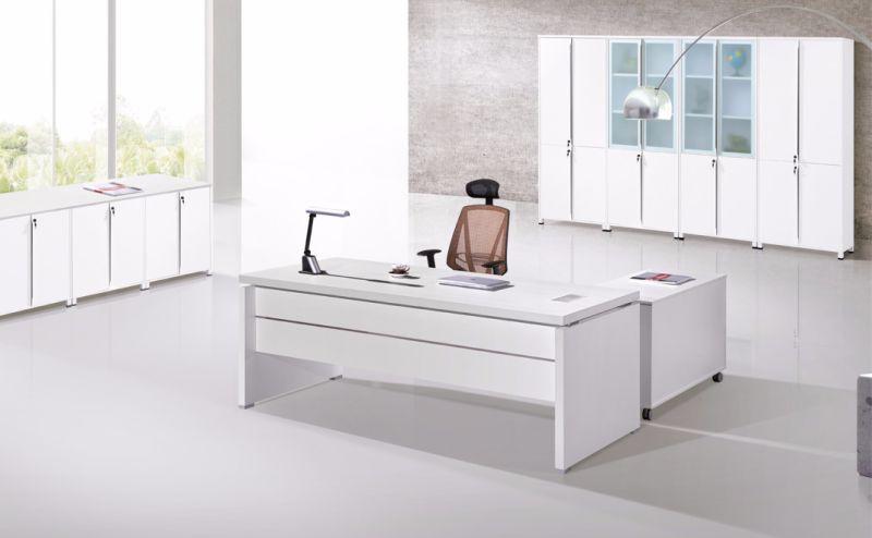 Couleur blanc unique bureau moderne de meubles en bois bureau
