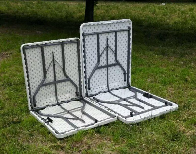 Comercio al por mayor de HDPE de plástico plegables mesas plegables ...