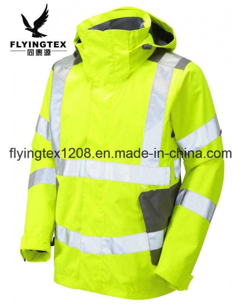 e45b9d62682 Chaqueta de seguridad de caparazón blando de alta visibilidad Ropa ...