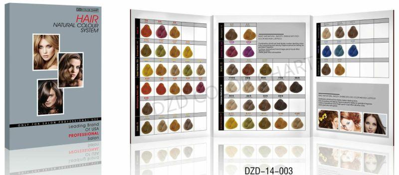 Gráfico de Color de pelo plegable libro para el cabello tinte ...