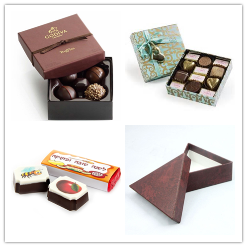 Creative Chocolate Box With Plastic Window And Insert Tray