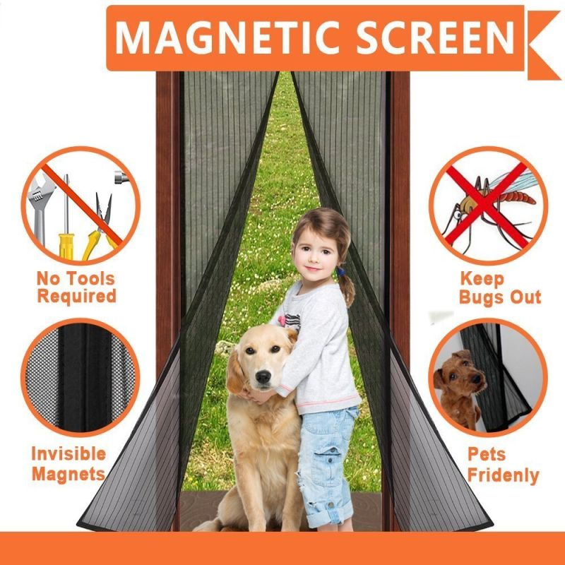Magic Mesh Instant Magnetic Screen Door Kit