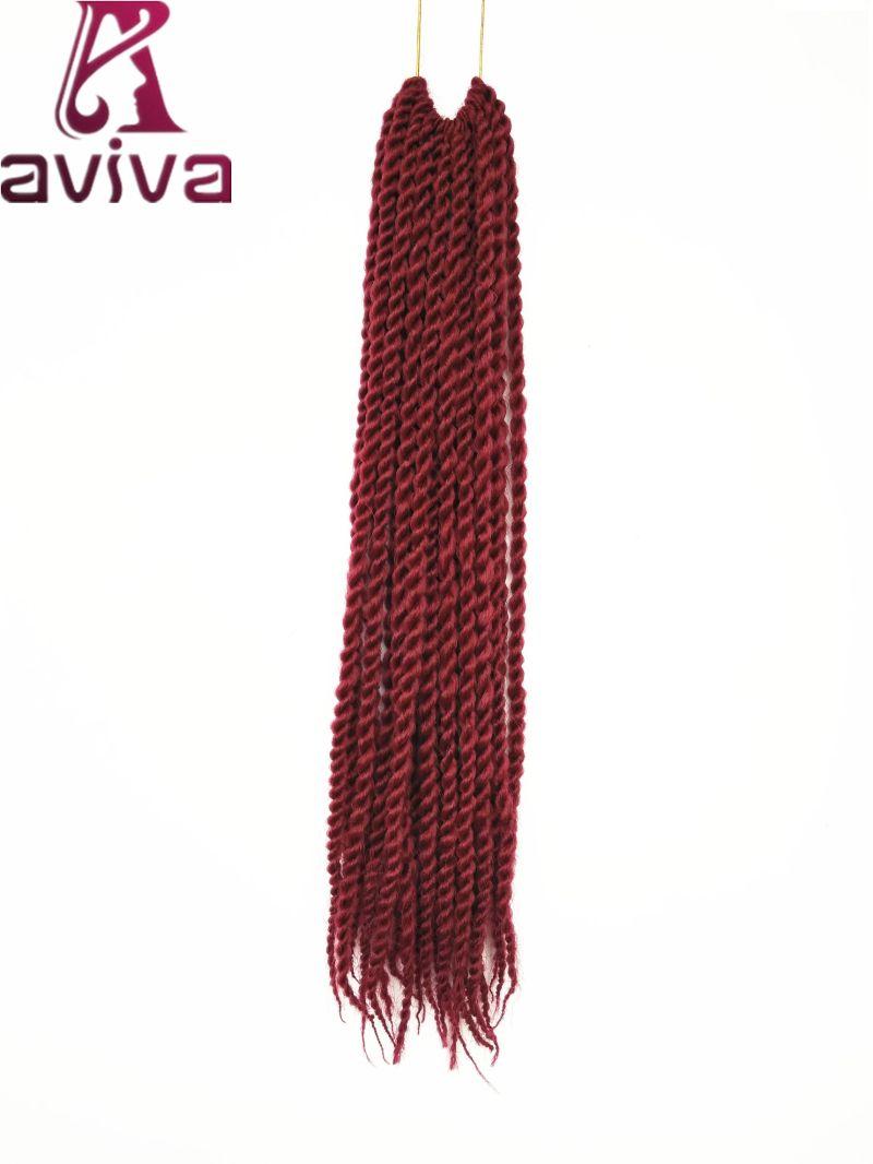 24 pulgadas de cabello sintético extensiones de cabello trenzado de ...