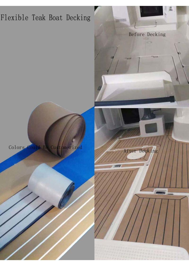 aqualand teck bois composite en plastique souple bateau decking rev tement de sol en teck. Black Bedroom Furniture Sets. Home Design Ideas