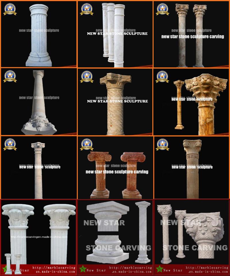 colonne romaine de marbre en carr de pierre pour d coration int rieure colonne romaine de. Black Bedroom Furniture Sets. Home Design Ideas
