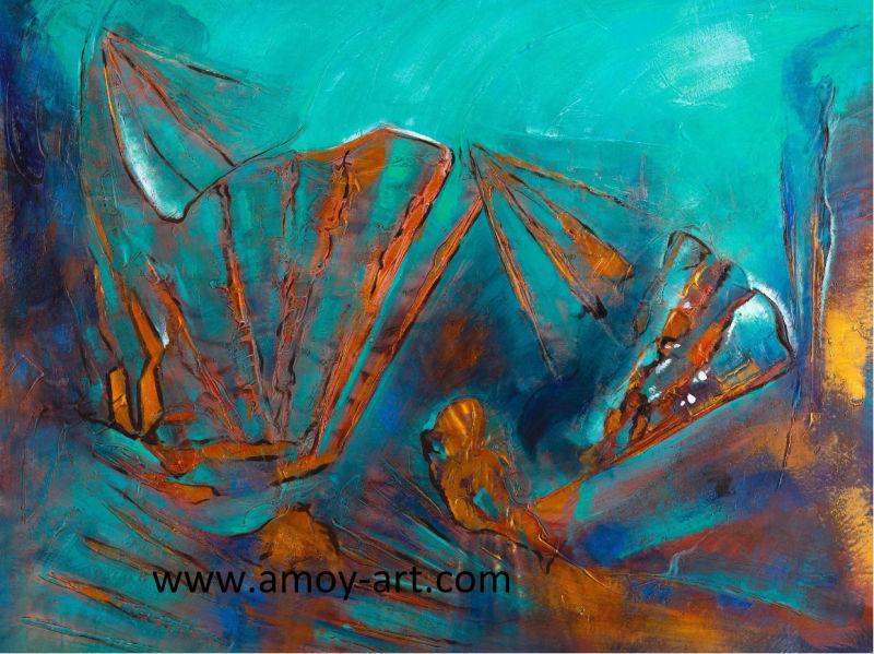 Moderne abstracte olieverfschilderijen voor de decoratie van het