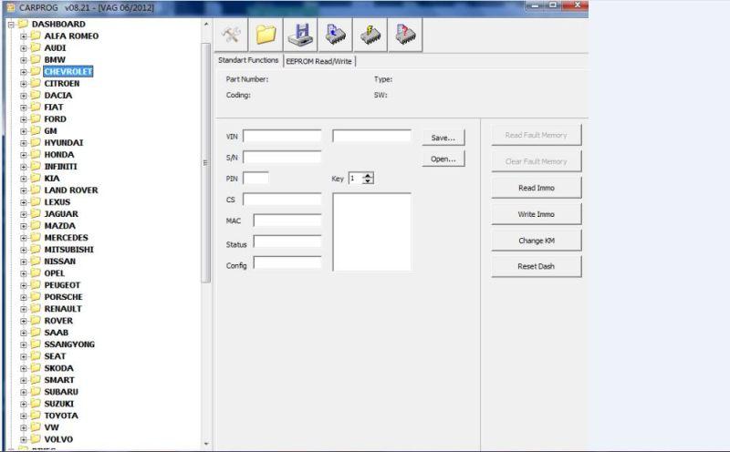 Carprog V8 21 ferramenta ECU automático