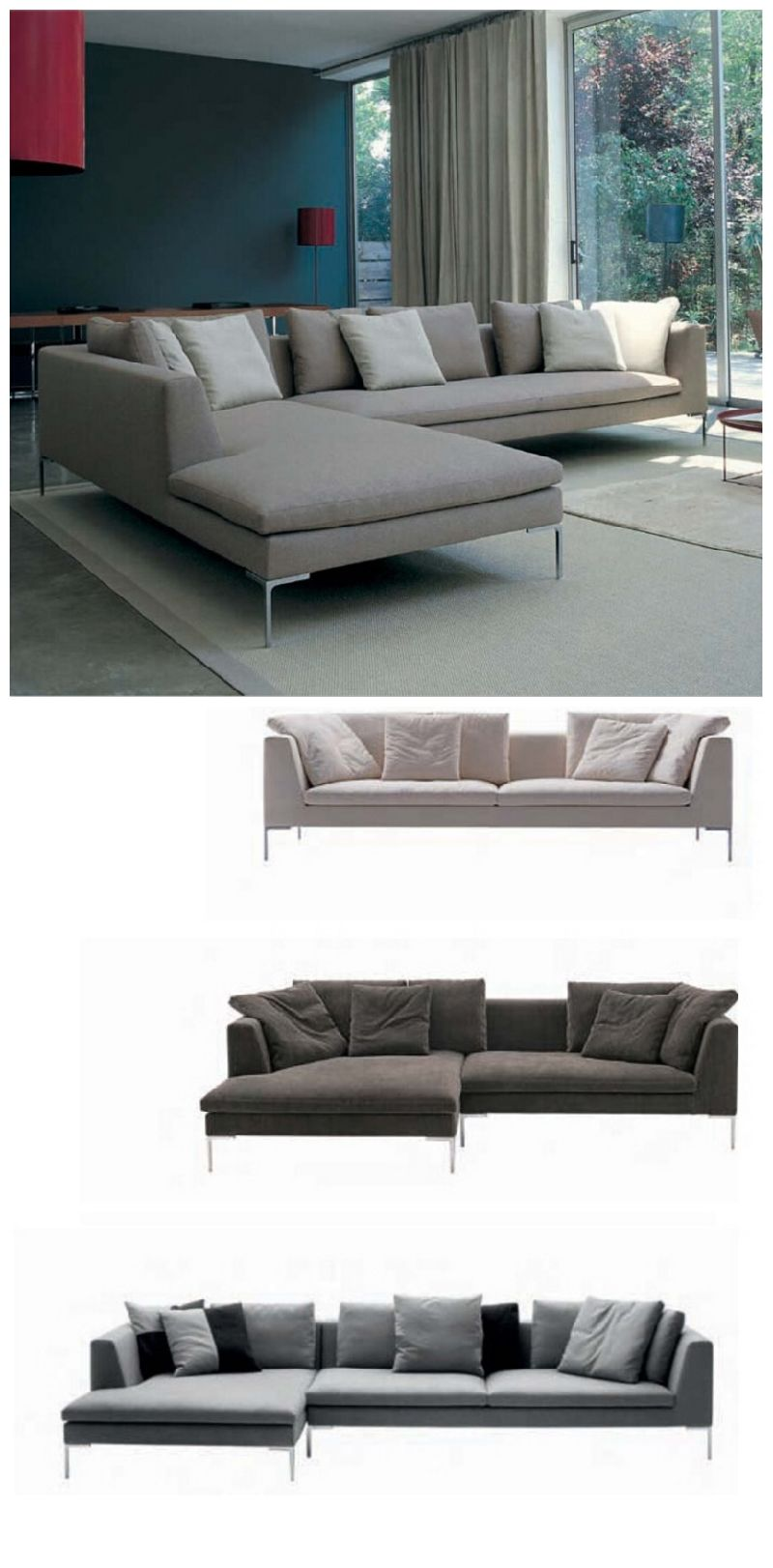 China Italy Big L Shape Fabric Sofa for House Use SF026