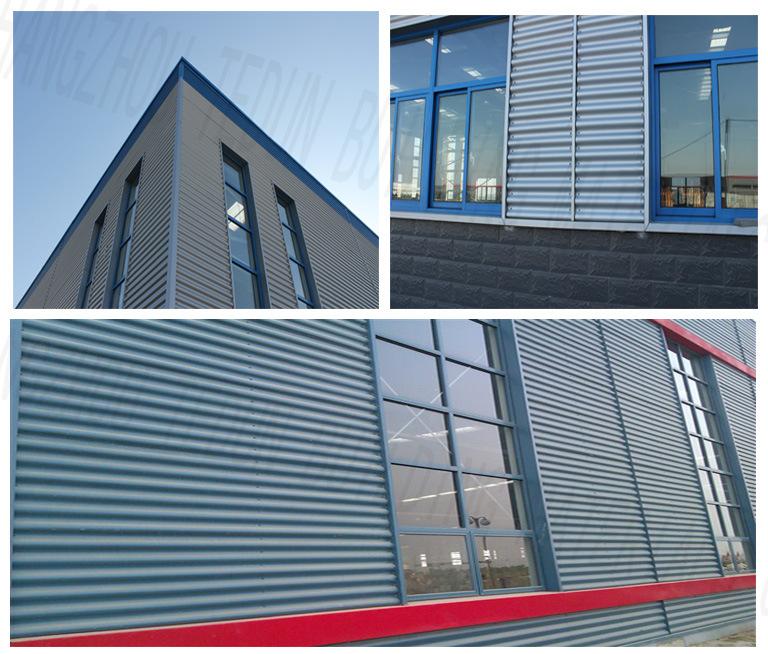Zinc Coated Corrugated Exterior Roof Cladding