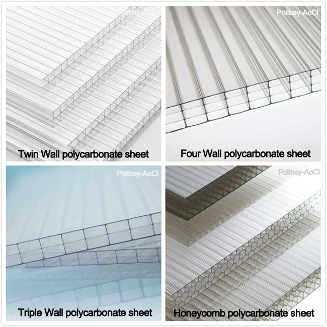China Twin Wall Colored Cheap Lexan Hollow Polycarbonate Sheet Price ...