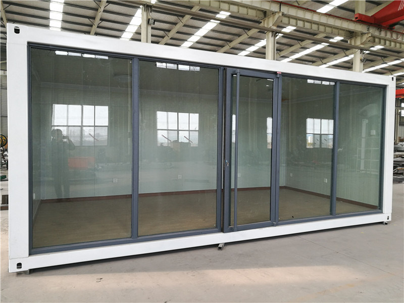 China Eps Sandwich Panel And Glass Wall Container House