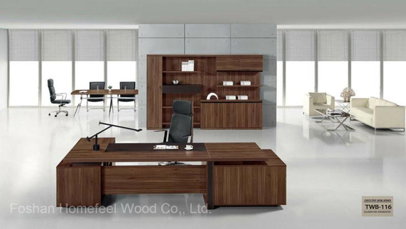 Un design moderne en bois de teck de bureau en bois de placage de