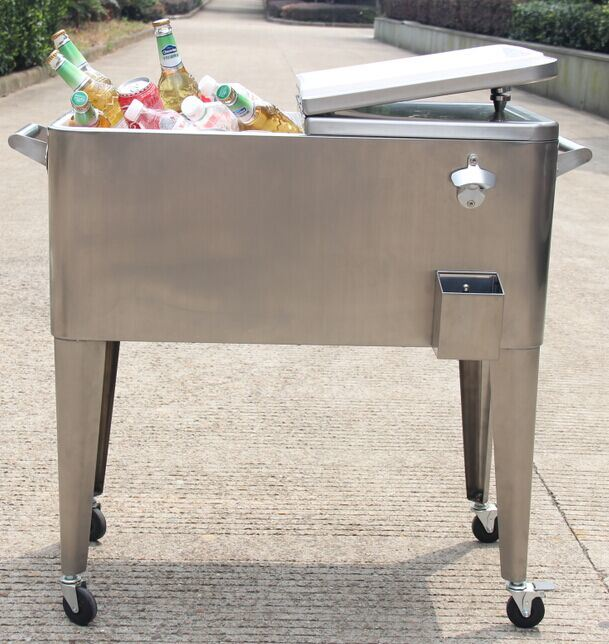 Patio Beverage 60qt Stainless Steel Cooler Box