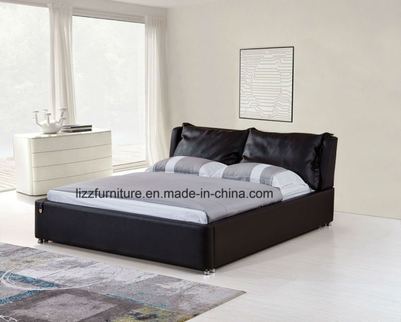 Muebles de cuero de Dubai moderno dormitorio con cama con armazón de ...