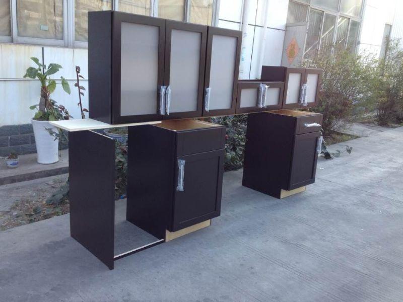Mdf avec armoires de cuisine en placage de bois for Placage armoire cuisine