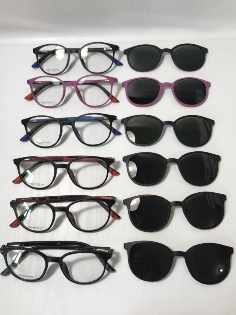 China UV400 Polaroid Lenses Tr90 Eyewear Frame Clip on Eyeglasses ...