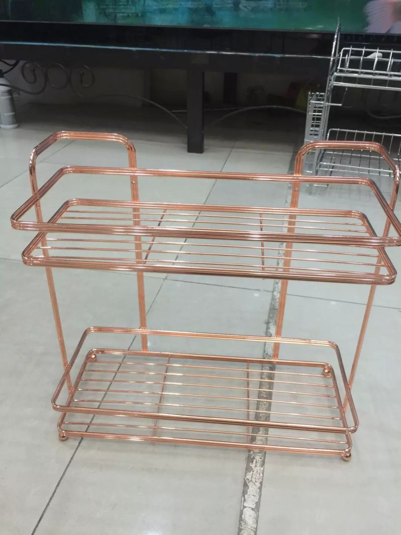 China Shower Caddy, Bathroom Rack, Pearl Gold Finish - China Shower ...