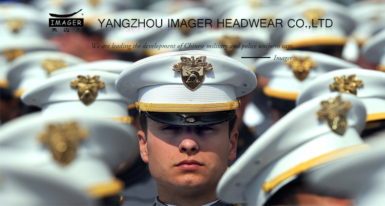 91b283764f838c Dark Blue Honorable Army Uniform Hats with Gold Chin Strap and Embroidery