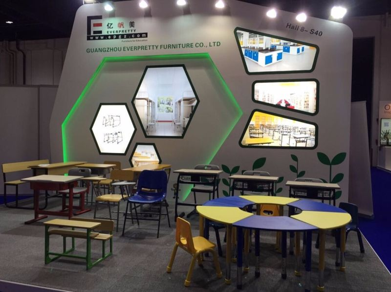 Modular Classroom Seating ~ Estudante de plástico portátil a dupla mesa e cadeira