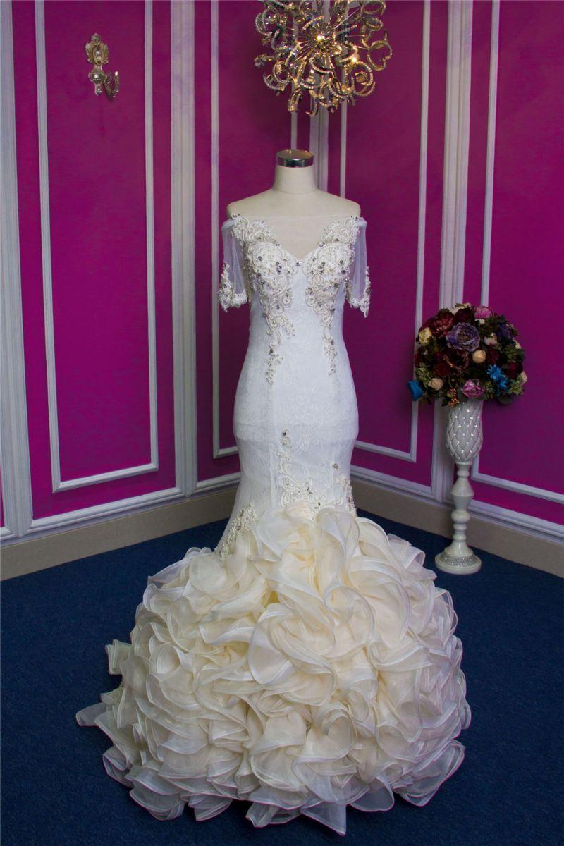 Nuevo diseño artesanal de gama alta Mermaid vestido de novia vestido ...
