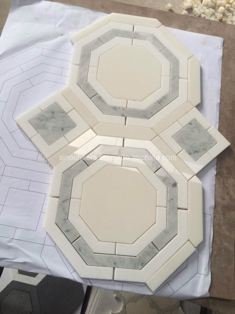 China Bathroom Wall Wholesale Waterjet Marble Tile - China Wholesale ...