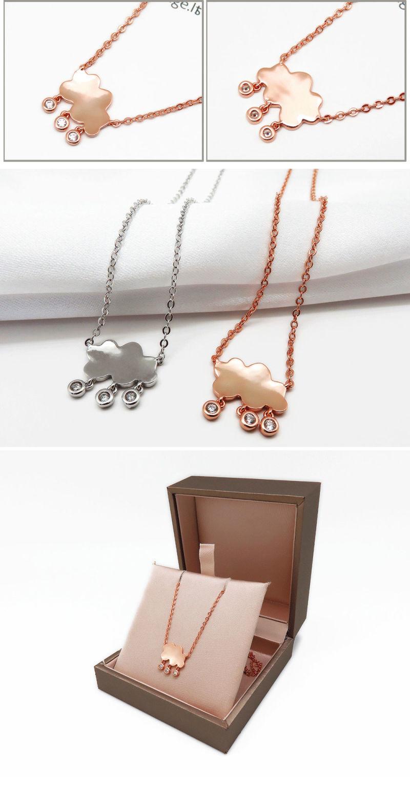 Chapado en oro rosa de bisuter a de moda collar con 3a cz for Proveedores de material para bisuteria