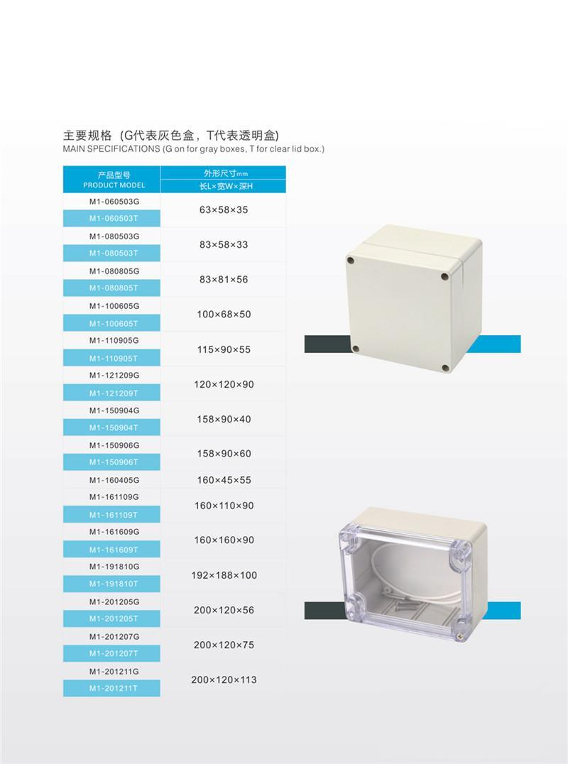 China Waterproof 200X150X100mm Plastic Device Housing Enclosure ...